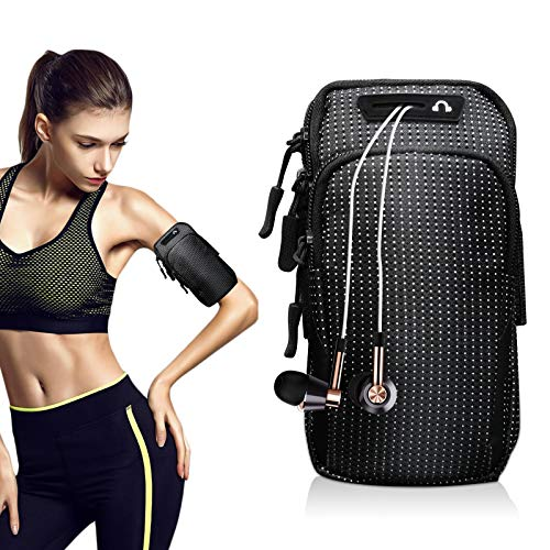 Sportarmband für iPhone 11 Pro Max XR XS 8 7 Plus, Samsung S20 Ultra S20+ S10+ S9+ Note 20 Ultra Note 10, Laufen, Fitnessstudio, Radfahren, Wandern, Wandern
