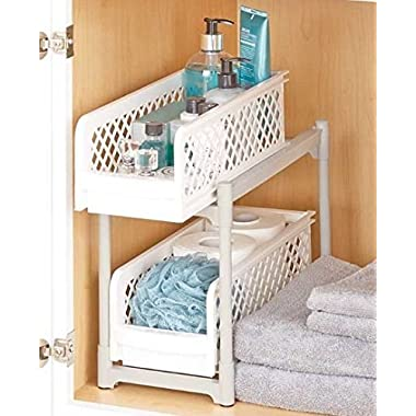 TRM 2-Tier Sliding Bathroom Storage Shelf