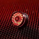 Asvert Luz Trasera de Bicicleta 60 Horas en Modo Flash Lento, LED USB Recargable, Impermeable, Advertencia, 5 Modos,Recargable USB(Negro)