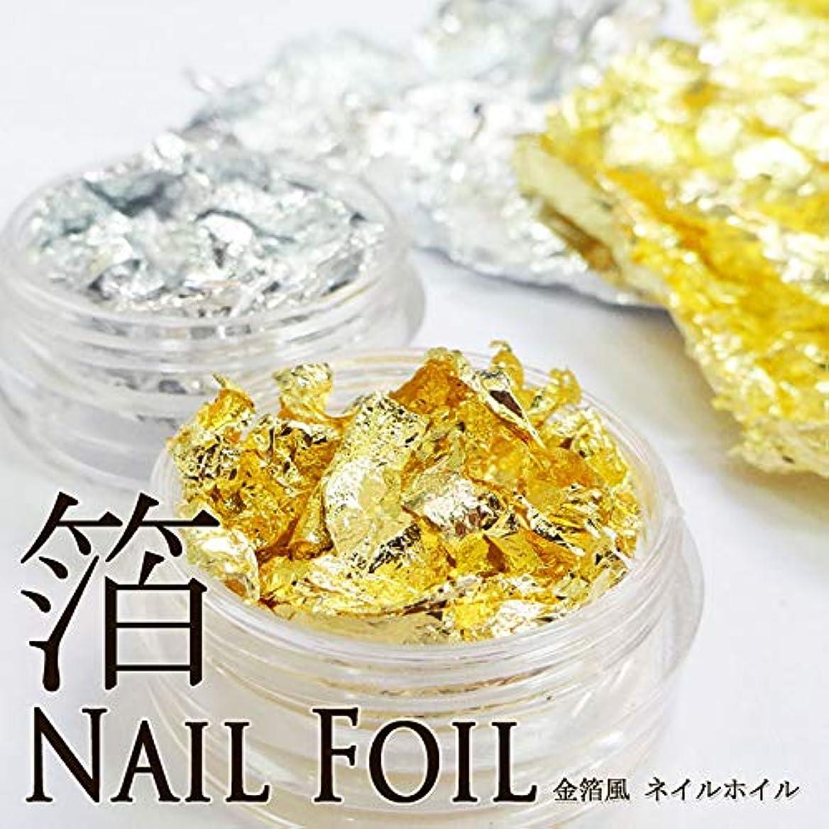 ゴミ箱を空にする塩範囲金箔風 ネイルホイル(ナゲット)ケース入り (ゴールド)