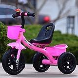 Xiaoping Las Bicicletas de Tres Ruedas for niños Hombre Y Bicicleta de la Hembra del bebé Los niños (2-6 años) El Carro de bebé (Size : Inflatable Wheel Without Pole)