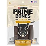 One (1) 11.2 oz. Pouch - Purina Prime Bones Made in USA Facilities Natural Small Dog Treat, Filled Chew With Wild Boar Plastic & rawhide free dog chews Filled bones made with real wild boar Natural dog treats with added minerals Indulgent, soft, meat...
