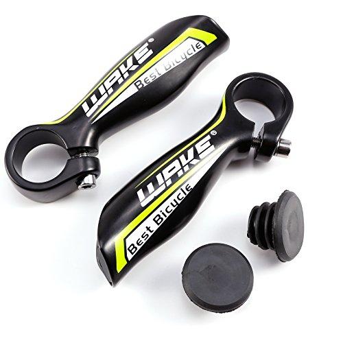 Hamimelon Manillar Acoples para Bicicleta de Montaña MTB BMX Ciclismo Diámetro 22.2mm en Colores (Negro&Verde)