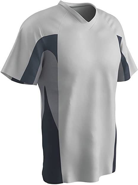 Grey,Graphite,White Adult 3X-Large CHAMPRO Relief V-Neck Polyester Jersey