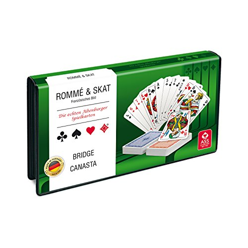ASS Altenburger 22570189 - Spielkartenkassette für Rommé, Skat, Bridge, Canasta
