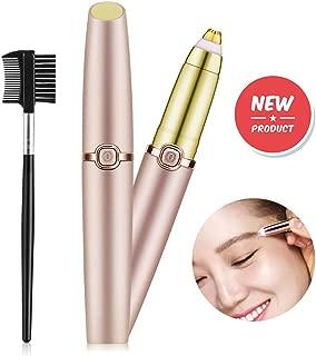Eyebrow Hair Remover for Women,Painless Eyebrow Trimmer Epilator Electric Eye Brow Razor with Light