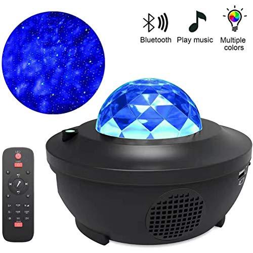 Proyector Estrellas Adulto, Galaxy Projector LED,Proyector Luz Estelar Giratori, con Altavoz Bluetooth