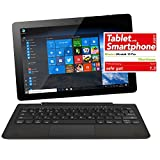 NINETEC Ultratab 10 Pro Convertible Tablet PC 2in1 Windows 10 + Android Ultradünnes...