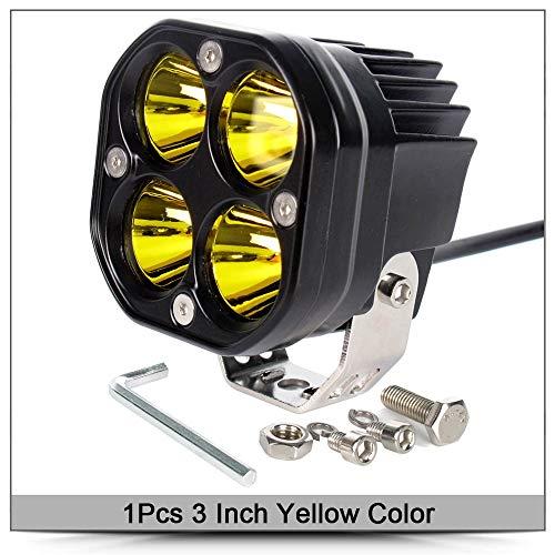 GHC barras de luz LED de trabajo barra de luces de conducción 12 V 24 V blanco cuadrado foco para coche amarillo lámpara de niebla 4x4 fuera de carretera motocicleta tractores