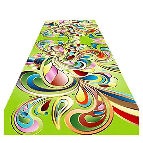 ZEMIN Passatoia Corridoio Assorbente Lungo Zona Tappeto Elastico Stuoia Anti-Caduta Coperta, Multi-Size Personalizzabile (Color : A, Size : 1.2x4m)