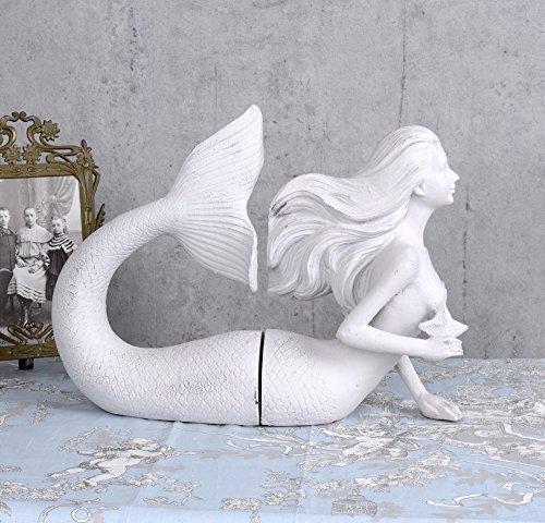 Buchstütze Nixe Buchstützen Shabby Chic Meerjungfrau Skulptur Loreley Palazzo Exclusiv