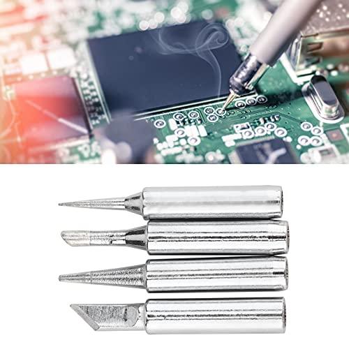 Kit de soldador, puntas de estación de soldadura Puntas de soldador Puntas de soldadura precisas de 4 piezas para el hogar, bricolaje para reparaciones electrónicas