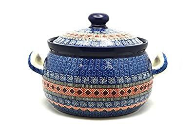 Polish Pottery Covered Tureen (without ladle slot) - Aztec Sun