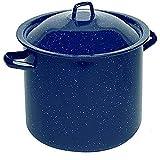 IMUSA USA Speckled Enamel Stock Pot 7.75-Quart, Blue