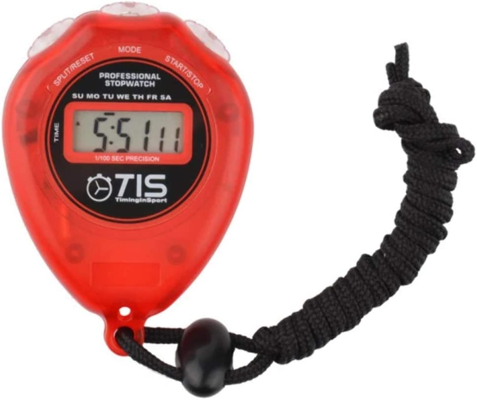 TIS Pro 018 Stopwatch - Red