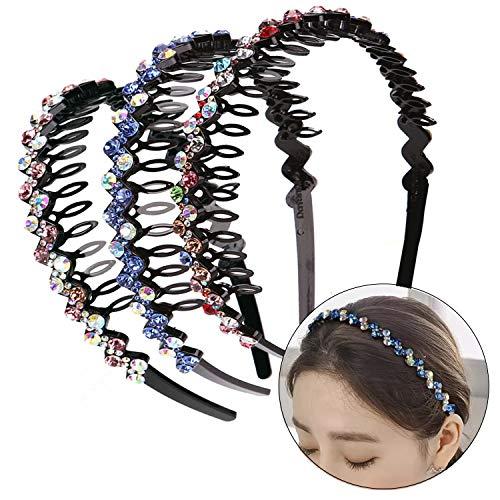 3 cerchietti per capelli con strass e denti di cristallo, tiara per donne e ragazze