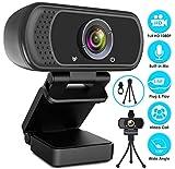 Webcam HD 1080p Web Camera, USB PC Computer Webcam with Microphone, Laptop Desktop Full HD Came…