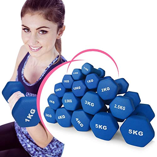Fitness Pair of Neoprene Dumbbell - Dumbbells Weight for Home and Gym Fitness Exercise Workout Training for Arms and Hands, Yoga and Gym Classes(1pcs) (Color : 0.5kg)