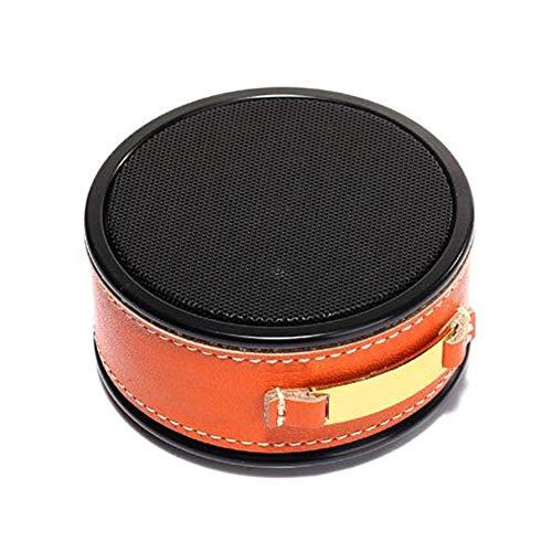 ZNMJW - Altavoz Bluetooth (piel), color naranja