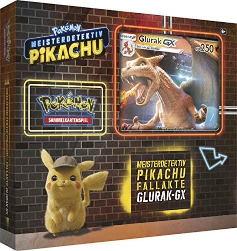 Lively Moments Naipes de Pokemon Meisterdetektiv Pikachu Fallakte Glurak - GX Pantalla de Alemán Promo Cartas Coleccionables Cartas Juego