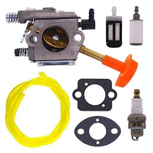 FitBest Carburetor with Fuel Line Filter Spark Plug for Stihl FS48 FS52 FS66 FS81 FS88 FS106 String Trimmer Walbro WT-45-1 Carb