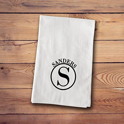 Tea Towels - Personalized - Circle