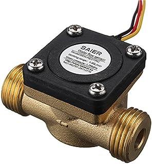ChaRLes G1/2 Pulgadas De Cobre Sensor De Caudal De Agua Líquido Medidor De Temperatura