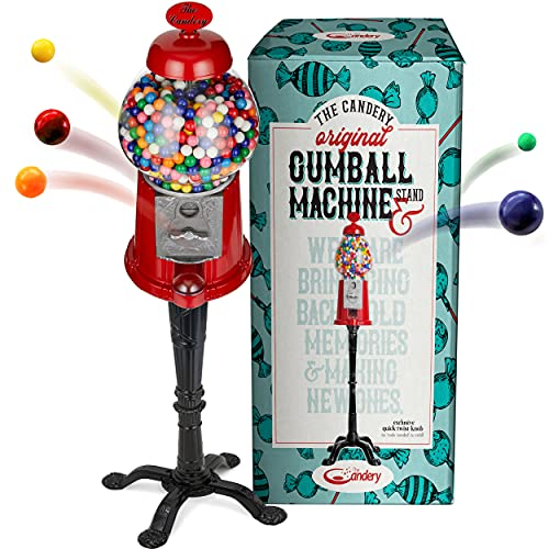 Gumball Machine - 15 Inch Candy Dispenser with Stand for 0.62 Inch...