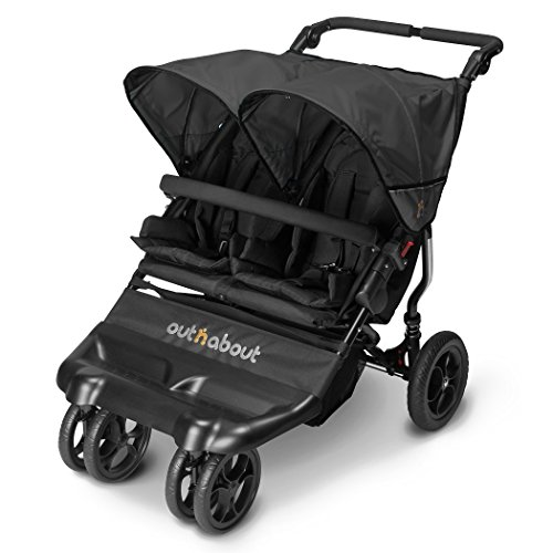 Out 'n' About Little Nipper Double Stroller Jet Black