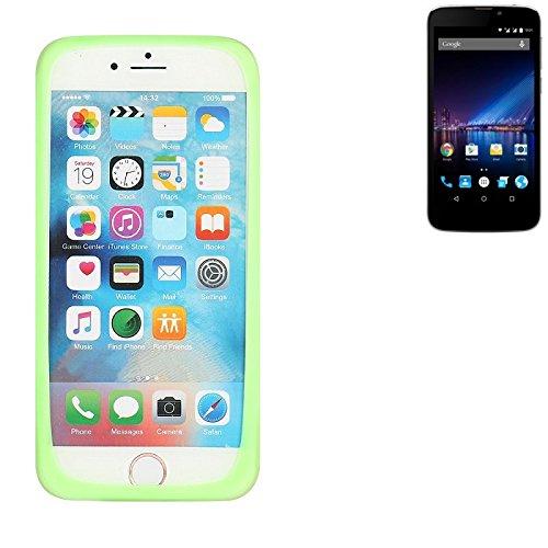 K-S-Trade® Für Phicomm Clue 2S Silikonbumper/Bumper Aus TPU, Grün Schutzrahmen Schutzring Smartphone Case Hülle Schutzhülle Für Phicomm Clue 2S