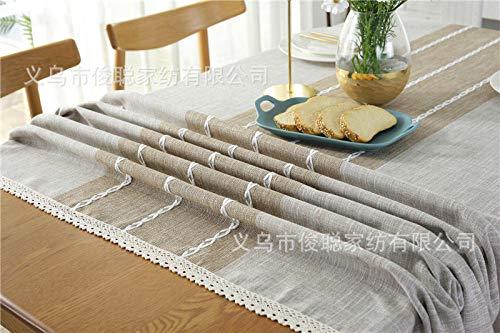GTWOZNB fácil de Limpiar, para jardín, Habitaciones, decoración de Mesa, Rectángulo de Borla Impermeable-Caqui Claro + Encaje_90x90
