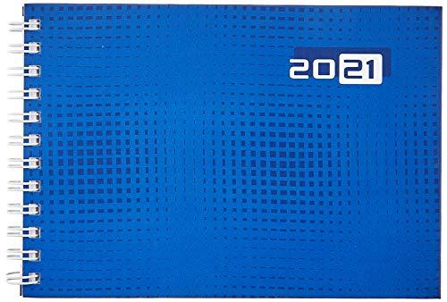 rido/idé 7017107021 Taschenkalender Septimus, 2 Seite = 1 Woche, 152 x 102 mm, Grafik-Einband blau, Kalendarium 2021