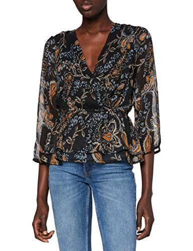 ONLY Damen Bluse, AOP:Hand Drawn Paisley/ONLNANA 3/4 TOP WVN, XL