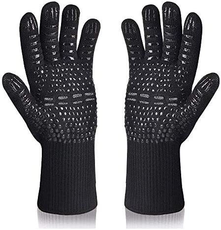 TanmarBBQ Grill Gloves 1472 F Extreme Heat Resistant Grilling Gloves Non Slip Oven Mitts Potholder product image