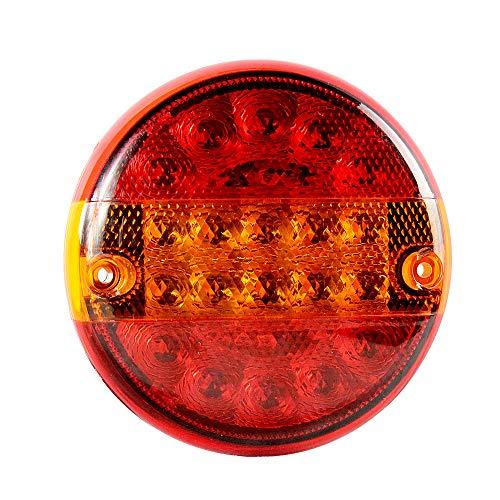 AOHEWEI 20 LED Anhänger Rücklicht Runden Bremsleuchte Lkw Blinklicht Beleuchtung Licht Anhalten Anzeige Lampe Wasserdicht10~30V für Anhänger Lkw Wohnwagen Oder Van (20 led-chips)