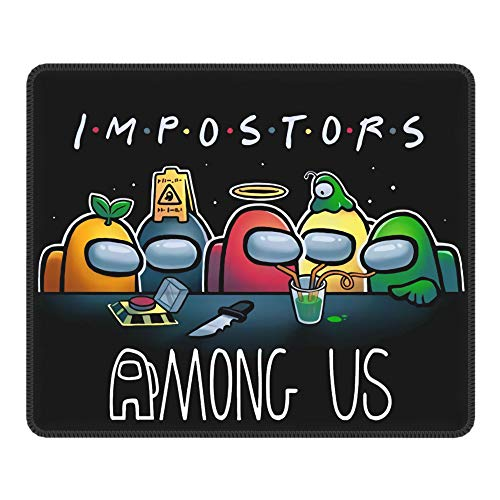 AIXIULEIDUN Among us Mouse pad Double Stitched Edge, Non-Slip Rubber Bottom Waterproof Mouse Mat for Gaming Office Laptop Computer 10 x 12 inch