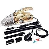 Lpiotyuscxcq Sspiradora de Mano 4-en-1 Limpiador de Mano portátil de vacío de Coches con el neumático Digital de la Bomba for inflar con Aire de presión for Auto húmedos y Secos Uso