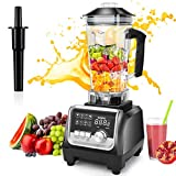 OMMO Blender Smoothie Maker, 1800W 9 Adjustable Speeds & 7 Presets Mixer with 2 Litre Jug, High-Speed Blender with 6 Sharp Stainless Steel Blades for Smoothie, Milk Shake, Fruit Juice and Ice Crush