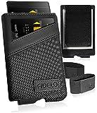 FIDELO Minimalist Wallet for Men - Slim Credit Card Holder RFID Mens Wallets with Magnetic Money...