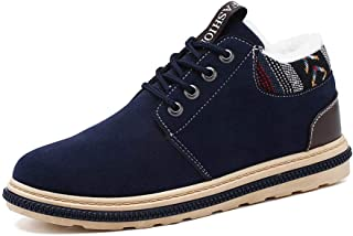 Men's Trainer Shoes, Lightweight Warm Non-Slip Wearable Sneakers, Fashion Thick Cotton Shoes, Autumn And Winter