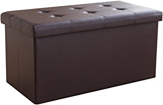 Tabouret de rangement rectangulaire en simili cuir/tabouret de rangement pour adulte/porte armoire à chaussures/multifonct...