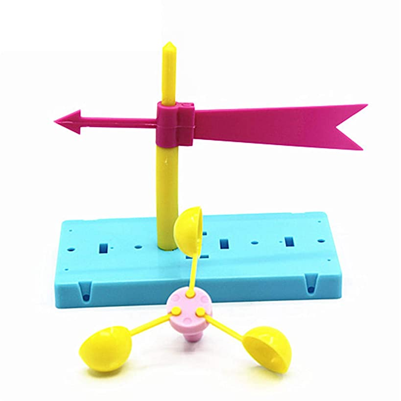 LALANG Fun Physics Experiment Homemade Wind Vane DIY Materials Home Educational Toy Kit for Kids Students