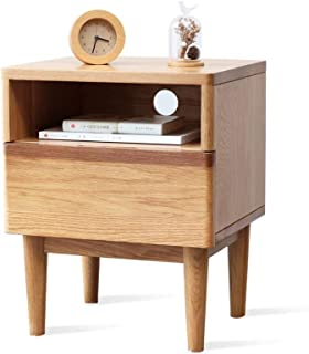 Bedside Table Bedside Table, Stylish Two-Color Mini Bedroom Bedside Storage one Drawer and one Compartment Small Cabinet, ...