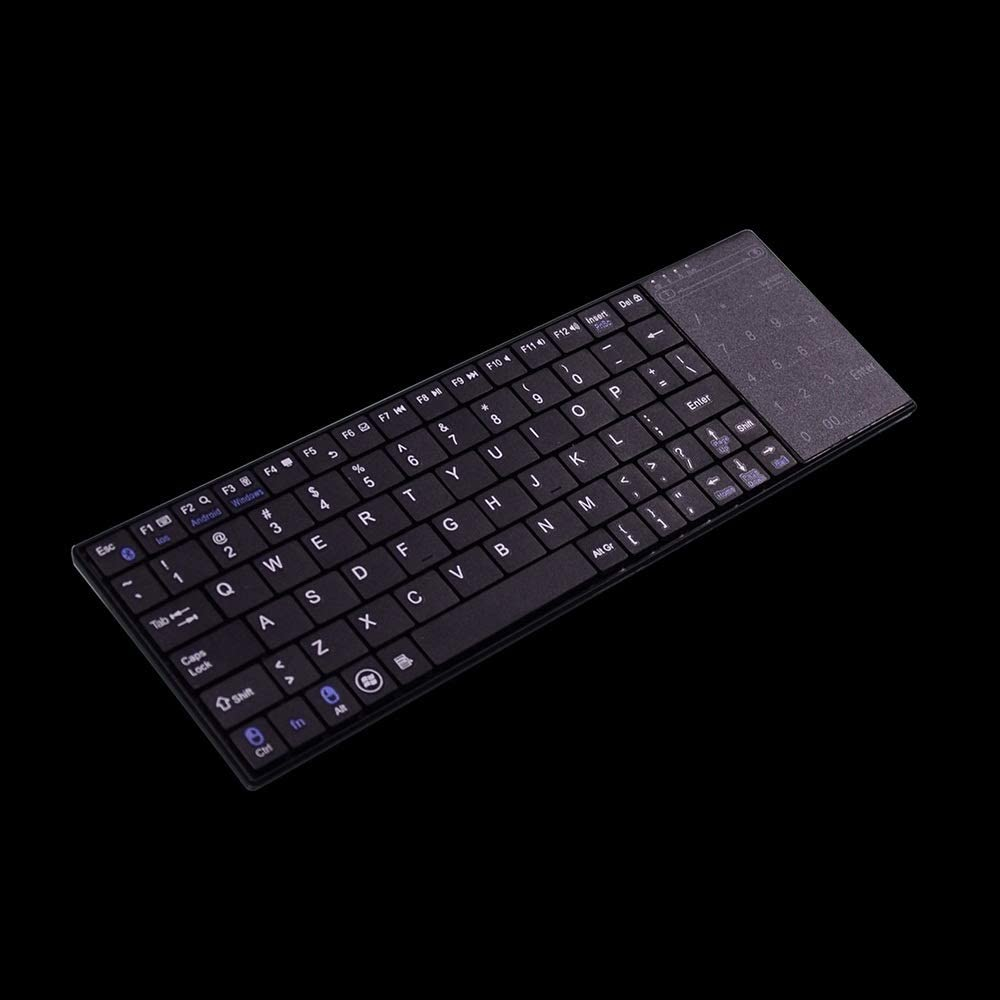 Color : Black, Size : 29.6X9.3X1.88cm Cigkany Bluetooth Keyboard Bluetooth Wireless Keyboard with Touchpad Universal Wireless Keyboard Computer Keyboard