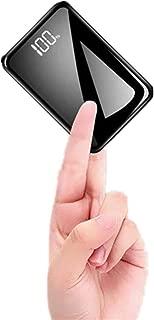 モバイルバッテリー 軽量 小型 13800mAh 大容量 コンパクト 携帯バッテリー (PSE認証済) LCD残量表示 鏡面仕上げデザイン 持ち運び便利 急速充電 ミニ 携帯充電器 ipad/iPhone/Android 機種対応 出張 旅行 地震防災 アウトドア活動 黒