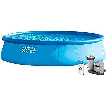 Intex 26176NP Piscina hinchable, con depuradora, 20.647 litros ...