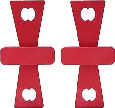 Ferramenta de guia de cauda de pomba Liga de alumínio de cor vermelha Régua de construção de cauda de canoa Réguas para ga...