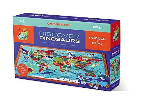 CROCODILE CREEK - Puzle de 100 piezas descubre los dinosaurios - CC-3829209 (Juguete)