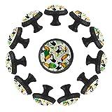 Dony Tirador exótico para tucán y hojas de pájaro, asas de gabinete y tiradores de cajón para gabinetes de cocina, cajones, gabinetes y decoración del hogar (12 paquetes)