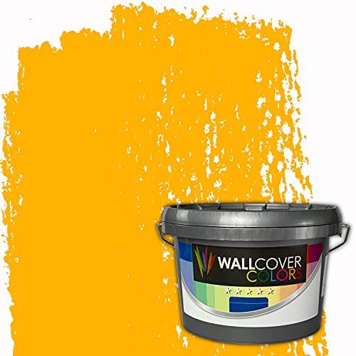 WALLCOVER Colors RAL-Farben Orange RAL 2007 1L für Innen Innenfarbe Leuchthellorange Matt | Profi Innenwandfarbe in Premium Qualität | weitere Größen erhältlich